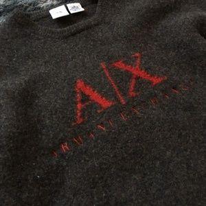 Armani Exchange Sweaters - AX Lambswool Varsity Sweater